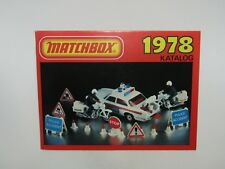 Matchbox Superfast 1978 Catalogue GERMAN Edition - No Graffiti - VN Mint RARE