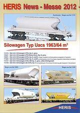Heris novedades-folleto 2012, pista h0 modelo vagón de ferrocarriI