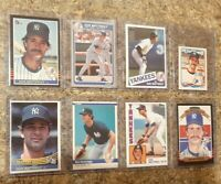(8) Don Mattingly 1984 1985 Donruss Topps Fleer Rookie Card Lot RC
