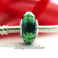 Authentic Pandora Sterling Silver Murano Kiss Me I'm Irish Bead 790927