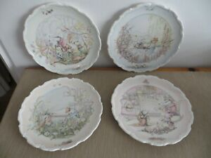 Royal Doulton WIND IN THE WILLOWS Set of 4 Plates