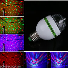 BOMBILLA LED RGB E27 GIRATORIA LUZ DISCOTECA DJ LAMPARA DISCO FOCO PUB LUCES