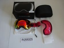 Dragon X2 Mill Lumalens Red Ion + Lumalens Rose Snow Goggle NIB NEW 2017