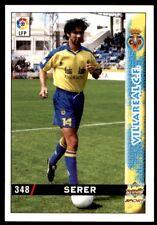 Mundicromo Las fichas de la Liga 98 99 Serer Villareal No. 348