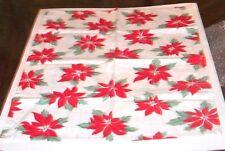 "Crate & Barrel Poinsettia Dish Towel 621-943 25"" x 20.5"""