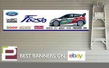 FORD Fiesta WRC Logo banner per Officina, Garage, RALLY, RS, ST, Castrol EDGE XL