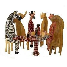 Party Animals Global Wood Hand Carved Gift Set
