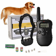 Pet Dog Remote Training Collar Electric LCD 100LV Shock Anti Bark &Battery ga1