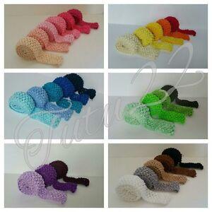 "tutu 1.5"" stretch headband fabric crochet elastic by the metre crafts UK SELLER"