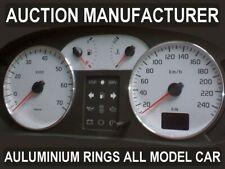 Renault Megane I ph II 99-02 Dash Instrument Chrome Rings Polished Aluminium x2
