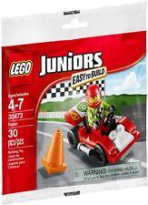 Lego Juniors Racing Car City 30473 race racers BNIP driver minifigure wheels