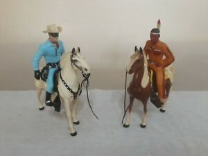 Vintage HARTLAND Lone Ranger and Tonto, Silver and Scout #H2