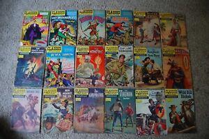 CLASSICS ILLUSTRATED COMICS LOT OF 59  LOW GRADE....... LOTS OF 1ST EDITIONS!