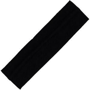 Cotton Headbands Soft Stretch Headband Sweat Absorbent Elastic Head Band Black