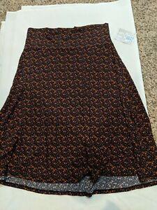 NWT LuLaRoe Azure Skirt XL multicolored floral pattern