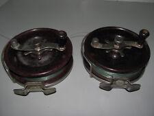 """Vintage Pair Of Alvey Bakelite Spool Snapper Reels Model 515 / C12 / 7 In """"GWO"""""""