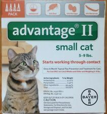 K9 Advantage II / 2 9 Flea Drop Medicine for Cats 4 Pack K-9 4 Month Supply NEW