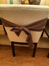 6 Brown chair tie backs w/ sheen. 96x6.5 Freeship