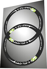 VISION METRON 55 LIME GREEN & WHITE COLOR REPLACEMENT RIM DECAL SET FOR TWO RIMS