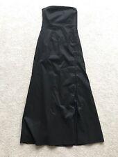 MEXX STRAPLESS FULL LENGTH DRESS. BLACK. Size 12. RRP £45.