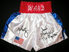 Mark Wahlberg & Irish Micky Ward The Fighter Autographed Boxing Trunks ASI Proof