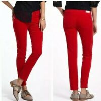AG Adriano Goldschmied Sz 28R Women's Red The Stevie Slim Straight Ankle Jeans