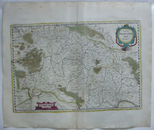 Franken Bayern altkolor Orig Kupferstichkarte Mercator Janssonius 1627