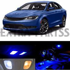 11x Blue Interior LED Lights Package Kit for 2015-2016 Chrysler 200