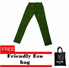 Fashion Skinny Green Skinny Jeans with Free Eco Bag