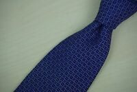 Paul Stuart Purple Geometric Green Pindot 100% Silk Tie Made in Italy