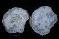 3 Inch White Botryoidal Chalcedony Geode,  Hamilton Illinois #80