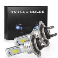 2x H7 LED Headlight Bulbs Conversion Super High/Low Beam 4000LM 6000K White 80W
