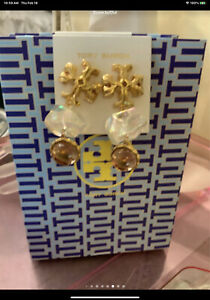 Tory Burch Exgerated Gold Earrings