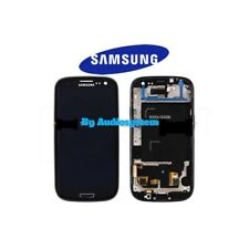 DISPLAY LCD+ VETRO ORIGINALE SAMSUNG GALAXY S3 NEO GT i9301 COVER FRAME NERO