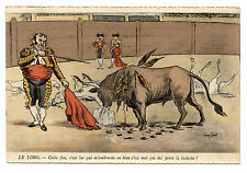 signé Jean ROBERT.SATIRE.CARICATURE.CORRIDA.BULLFIGHTING.TAUREAU