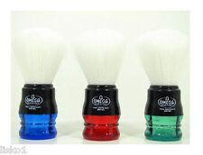 Omega Syntex 100% Synthetic Fiber Mug Soap Brush Plastic handle (BLUE)