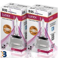 2 x D3S NEUF LUNEX XENON AMPOULE LAMPS PK32d-5 35W Ultra Platinum Original 8000K