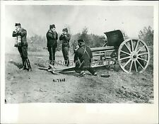1914 World War I Belgian Battery in Action Original News Service Photo