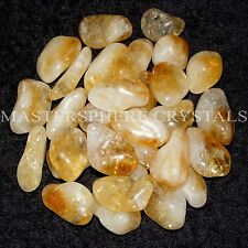 5 x Citrine Quartz Large Tumblestones A Grade Crystal 25mm-30mm Bulk Wholesale