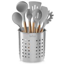 Stainless Steel Kitchen Utensil Holder, Kitchen Caddy, Utensil Organizer, Round