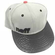 Neff Snapback Hat Daily Snakeskin Bill Leopard Brim Gray Adjustable Size