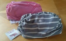 NWT HANNA ANDERSSON REVERSIBLE RUCHED SWIM CAP LILY PINK GRAY STARS S 1-3 YRS