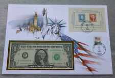 United States One Dollar 1985 Banknote, Cover-Stamps-UNC Condition, B 04035444 A