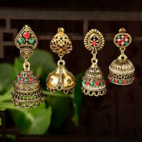 India Women Earrings Traditional Antique Bollywood Jhumka Jhumki Ethnic Jewelry
