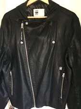 G Star Mens Biker Style Jacket New No Tags Size Large.. Viscose Exterior