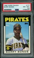 1986 Topps Traded BARRY BONDS RC Rookie #11T (Pirates) PSA 8.5 NM-MT+