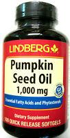 Pumpkin Seed Oil Pills 1000Mg 100 Softgels