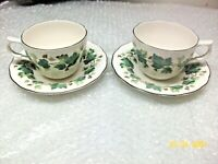 Set of 2 Nikko Tableware Casual Living Greenwood Tea Cup and Saucers