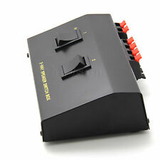 2 Way Pair Speaker Selector Switch Switcher Switching Box Splitter black