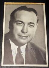 Vintage Hector Toe Blake Signed Montreal Canadiens Original Postcard!